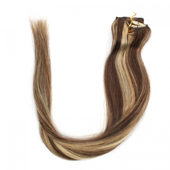 18 45cm 70gram 7pcsset Clips In Remy Human Hair Extensions 04613