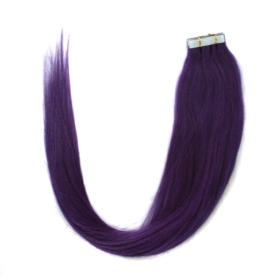 "18"" 45cm 40gram 20pcs/set Tape in remy hair extensions #Lila color"