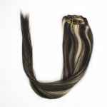"15"" 38cm 70gram 7pcs/set Clips in remy human hair extensions #01/613"