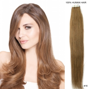"16"" 40cm 30gram 20pcs/set Tape in remy hair extensions #16 strawberry blonde brazilian virgin hair"