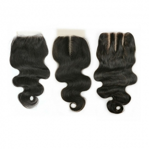 Free way 8inch virgin hair lace closure 4X4 closure Body wave 20cm